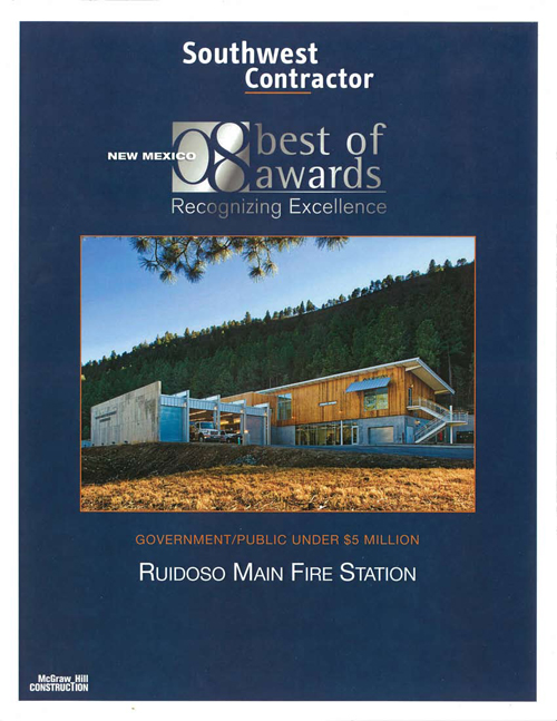Ruidoso Main Fire Station Award