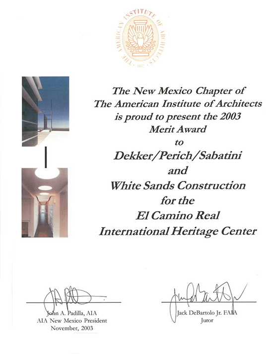 White Sands Construction Awards